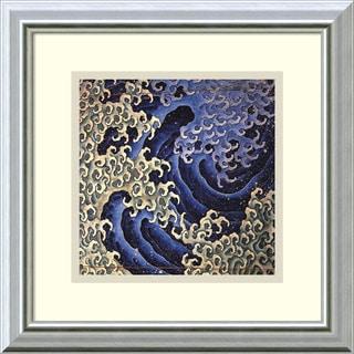 Katsushika Hokusai 'Masculine Wave' Framed Art Print 14 x 14-inch