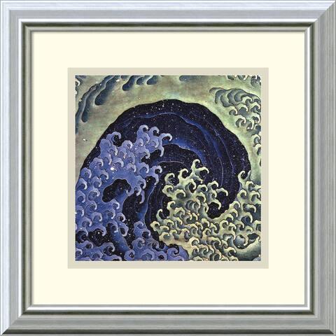 Framed Art Print 'Feminine Wave' by Katsushika Hokusai 14 x 14-inch