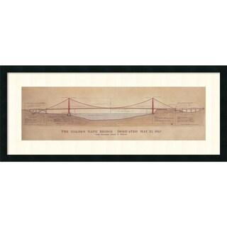 Framed Art Print 'Golden Gate Bridge' by Craig S. Holmes 40 x 17-inch
