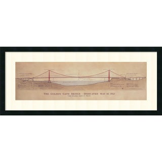 Craig S. Holmes 'Golden Gate Bridge' Framed Art Print 40 x 17-inch
