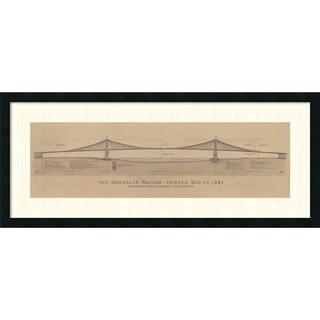 Framed Art Print 'Brooklyn Bridge' by Craig S. Holmes (2 options available)