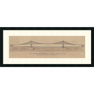 Craig S. Holmes 'Brooklyn Bridge' Framed Art Print 40 x 17-inch