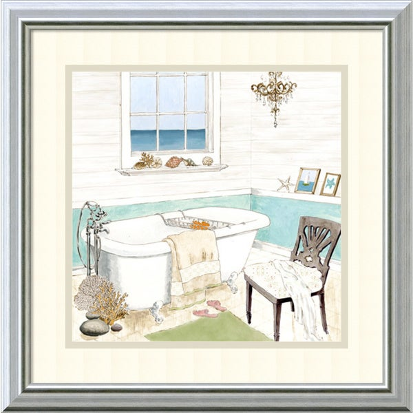 Framed Art Print 'Seaside Spa I' by Jocelyn Haybittel 18 x 18-inch