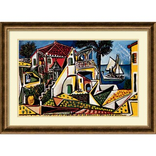 Framed Art Print 'Paysage Mediterraneen' by Pablo Picasso 37 x 27-inch