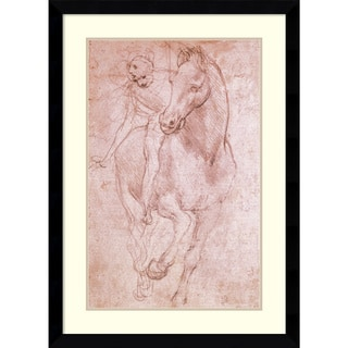 Leonardo da Vinci 'Horse & Rider' Framed Art Print 29 x 40-inch