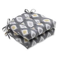 Pillow Perfect Rodrigo Graphite Reversible Chair Pad (Set of 2)