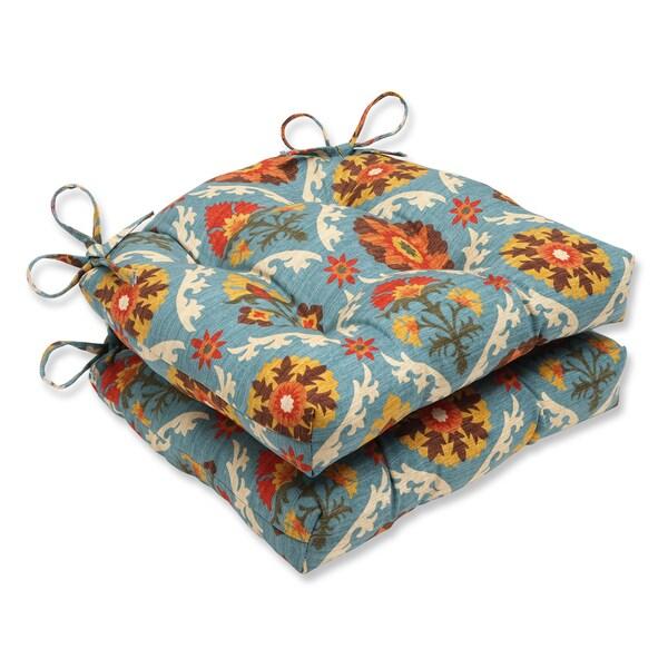 Pillow Perfect Mayan Medallion Reversible Chair Pad (Set of 2)