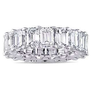 Miadora Signature Collection Platinum 9 1/6ct TDW Emerald-cut Diamond Eternity Anniversary Ring|https://ak1.ostkcdn.com/images/products/9306079/P16467356.jpg?impolicy=medium