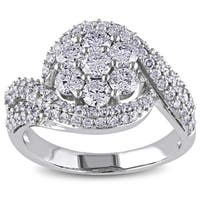 Miadora Signature Collection 14k White Gold 2ct TDW Diamond Engagement Ring