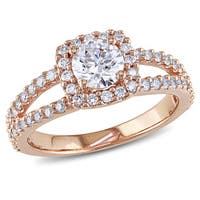 Miadora Signature Collection 14k Rose Gold 1ct TDW Certified Diamond Engagement Ring