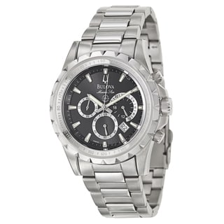 Bulova Men's 96B142 'Marine Star' Stainless Steel Chronograph Military Time Tachymeter Watch