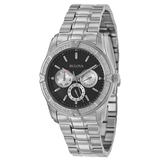 Bulova Men's 96E115 Chronograph Stainless Steel Military Time Watch