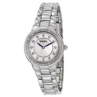 Bulova Women's 96R174 'Rosedale' Stainless Steel Blue Hand Watch