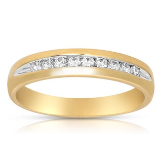 Eloquence 14k Yellow Gold 1/4ct TDW Channel-set Diamond Band