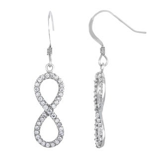 Sterling Essentials Sterling Silver Cubic Zirconia Infinity Dangle Earrings