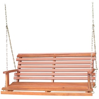 Havenside Home Nahant Acasia Wood Bench Swing with Chain