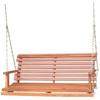 Acasia Wood Bench Swing with Chain|https://ak1.ostkcdn.com/images/products/9306282/P16467502.jpg?impolicy=medium