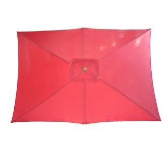 Market Rectangular Wooden Outdoor Umbrella