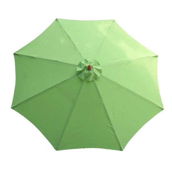 Market 9 Foot Outdoor Umbrella With Wooden Pole Free