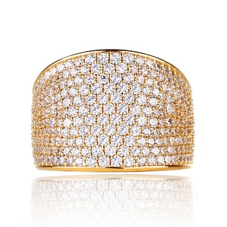 Blue Box Jewels Goldplated Cubic Zirconia Statement Ring