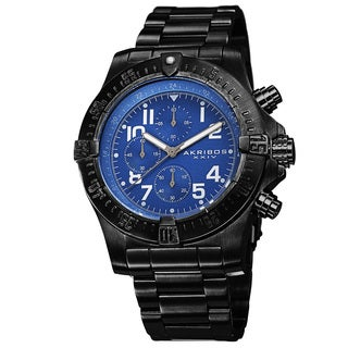 Akribos XXIV Men's Chronograph Quartz Stainless Steel Blue Bracelet Watch