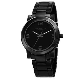 Akribos XXIV Men's Classic Swiss Quartz Ceramic Black Bracelet Watch with FREE GIFT|https://ak1.ostkcdn.com/images/products/9306397/P16467720.jpg?impolicy=medium