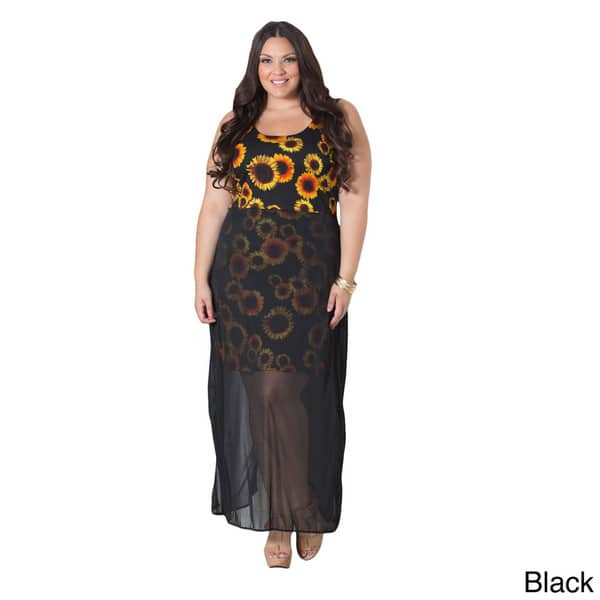 Shop Sealed with a Kiss Women\'s Plus Size \'Sunflower\' Tank ...
