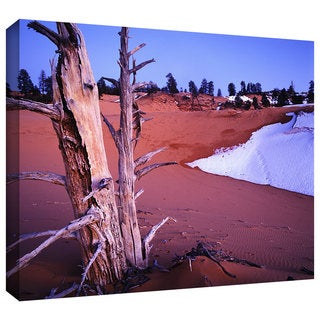 Dean Uhlinger 'Coal Dunes Dusk' Gallery-wrapped Canvas