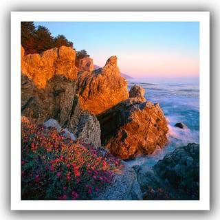 Dean Uhlinger 'Big Sur Sunset' Unwrapped Canvas - Multi