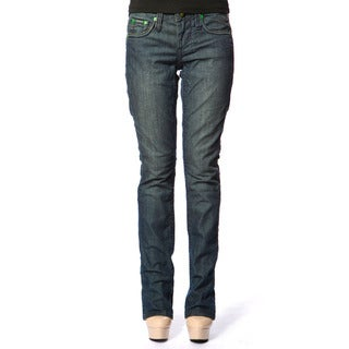 Stitch's Womens Blue Denim Soft Straight Leg Jeans
