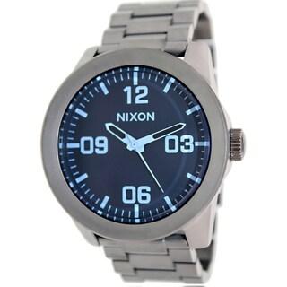 Nixon Men's Corporal Ss A3461427 Grey Stainless Steel Quartz Watch