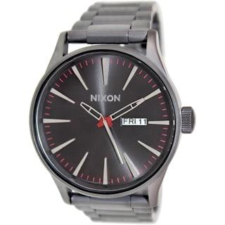 Nixon Men's Sentry Ss A356131 Grey Stainless Steel Quartz Watch