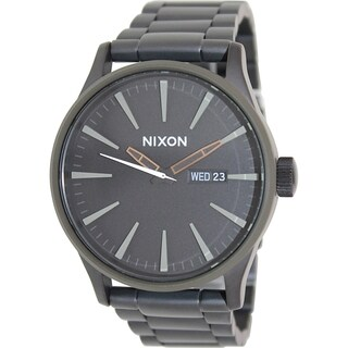 Nixon Men's Sentry Ss A3561530 Black Stainless Steel Quartz Watch