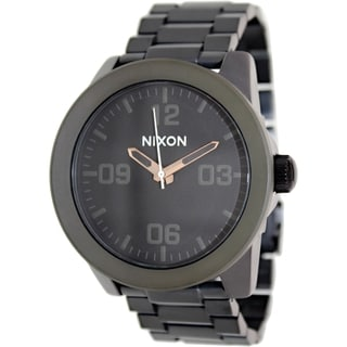 Nixon Men's Corporal A3461530 Black Stainless Steel Quartz Watch