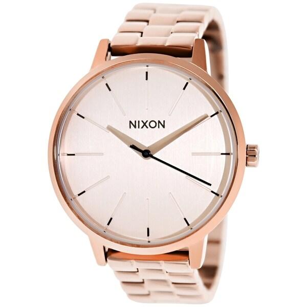 Nixon Women's Kensington A099897 Rose Goldtone Stainless Steel Quartz Watch