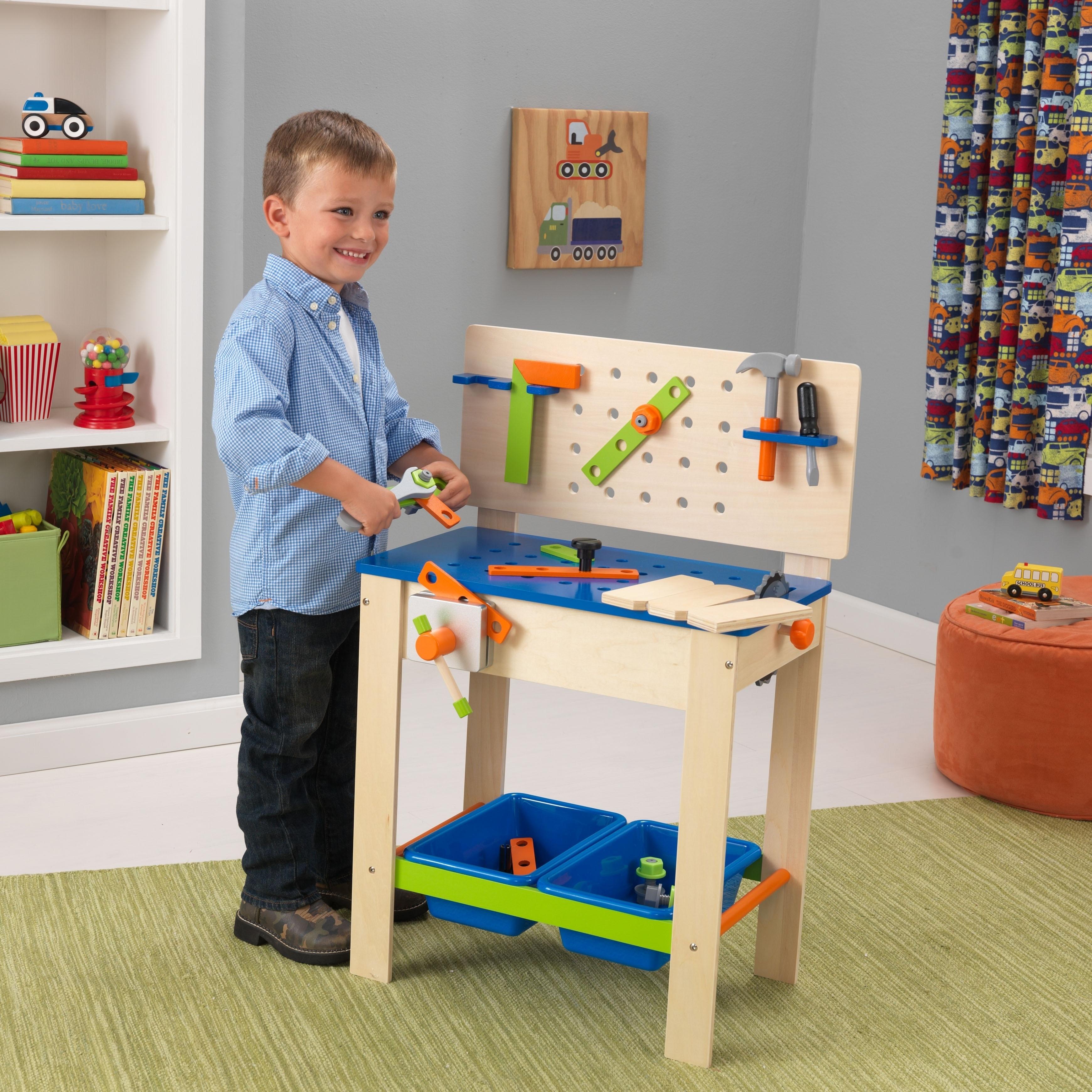 Kid Kraft Deluxe Workbench with Tools (Deluxe Workbench w...