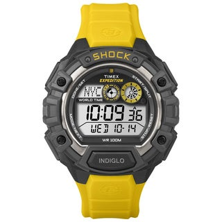 Timex Men's T499749J Expedition Global Shock Black/ Yellow Watch