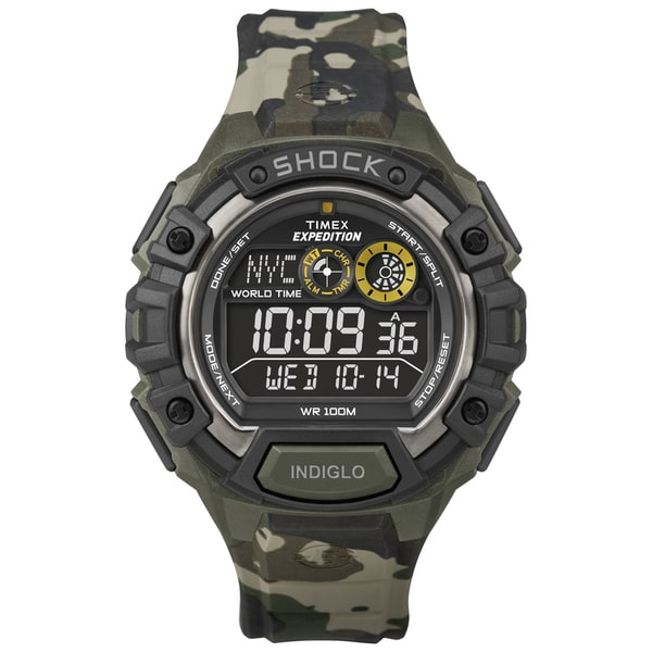 timex men s t499719j expedition global shock green camo watch timex men s t499719j expedition global shock green camo watch