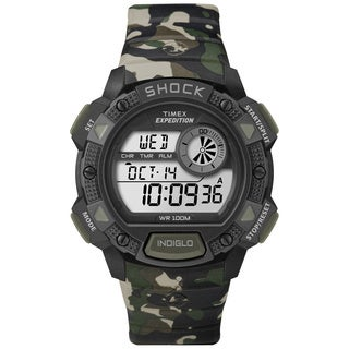 Timex Men's T499769J Expedition Base Shock Black/ Camo Watch