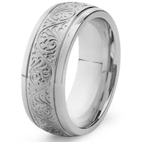 Engraved Stainless Steel Ring
