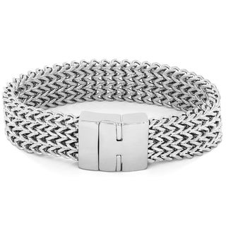 Crucible High Polish Stainless Steel Multi-layer Franco Link Bracelet