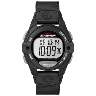 Timex Men's T499929J Expedition Digital CAT Black Nylon Strap Watch