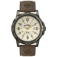 Timex Men's  Expedition Rugged Metal Field Brown Leather Strap Watch