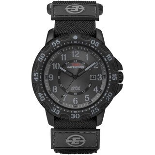 Timex Men's T499979J Expedition Rugged Resin Black Fast Wrap Nylon Strap Watch