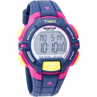 Timex Women's  Ironman Rugged Blue/ Pink/ Lime Resin Watch