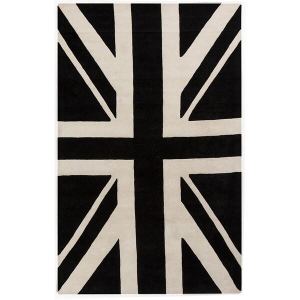 Hand-tufted Davida Graphic Novelty Wool Area Rug (5' x 8')