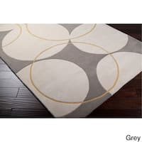 Hand-tufted Allison Contemporary Geometric Wool Area Rug - 8' x 11'
