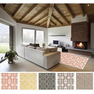 Hand-tufted Eliza Transitional Geometric Wool Area Rug (8' x 11')
