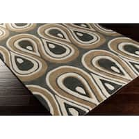 Hand-tufted Lalaine Abstract New Zealand Wool Area Rug - 8' x 11'