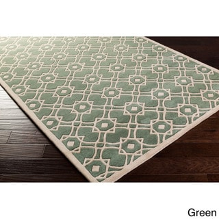 Hand-tufted Karen Contemporary Geometric Wool Area Rug (9' x 13')